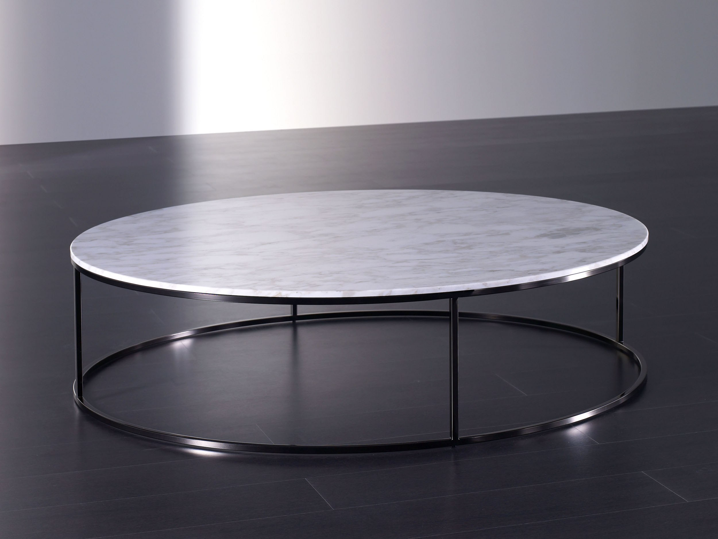 Low round marble coffee table bloom marble coffee table meridiani