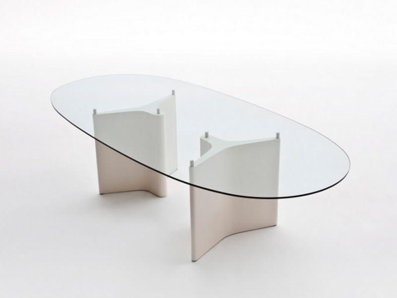 Tee tavolo ovale by segis design bartoli design - Tavolo vetro ovale ...