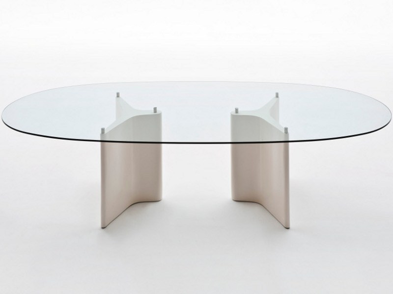 Tee table ovale by segis design bartoli design - Table ovale en verre design ...