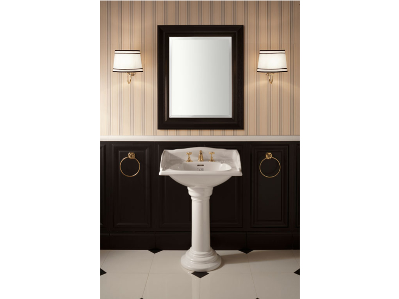 Applique bagno in tessuto black cloud by gentry home
