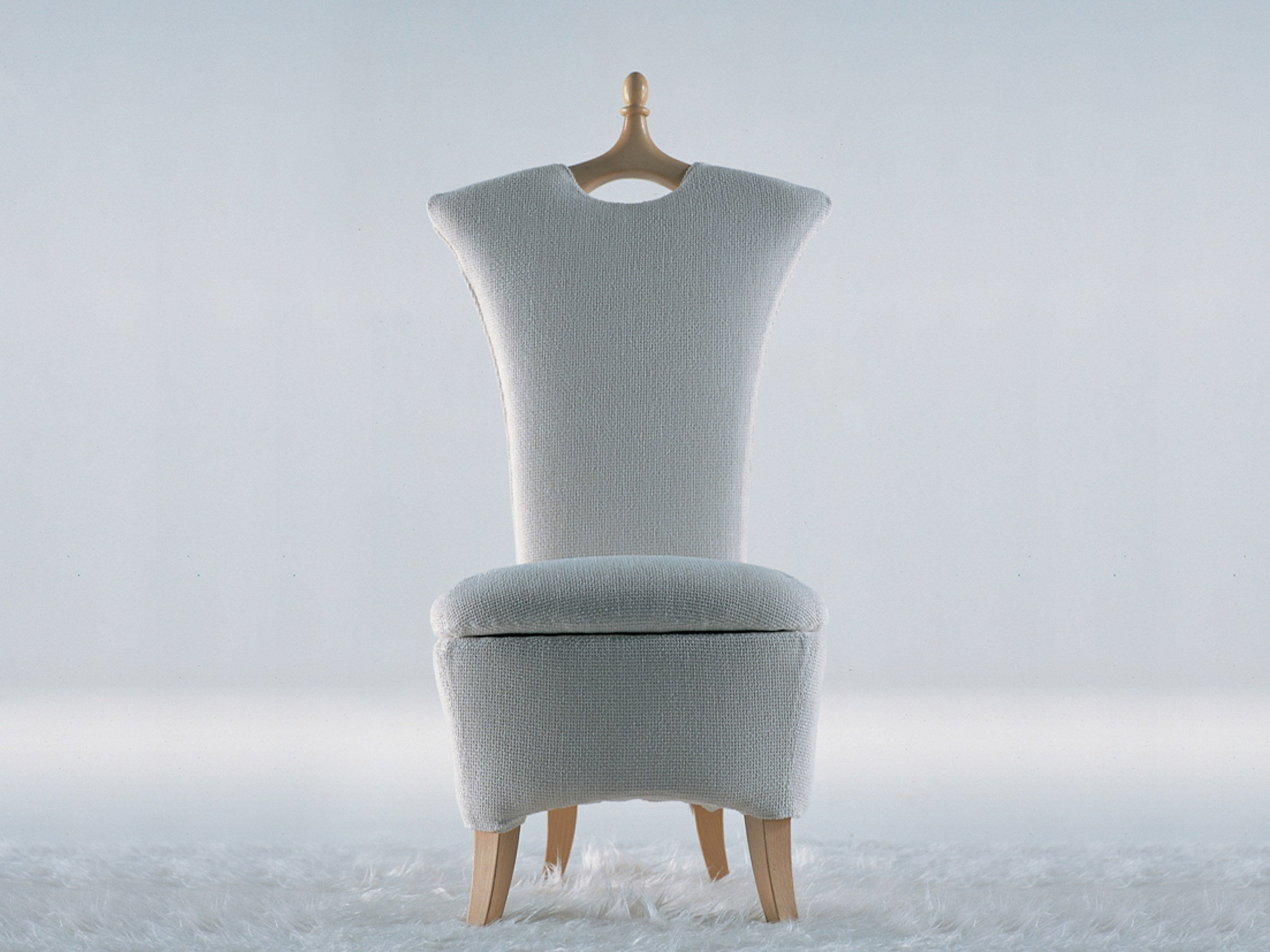 fabric armchair with removable cover ancellagiovannetti design