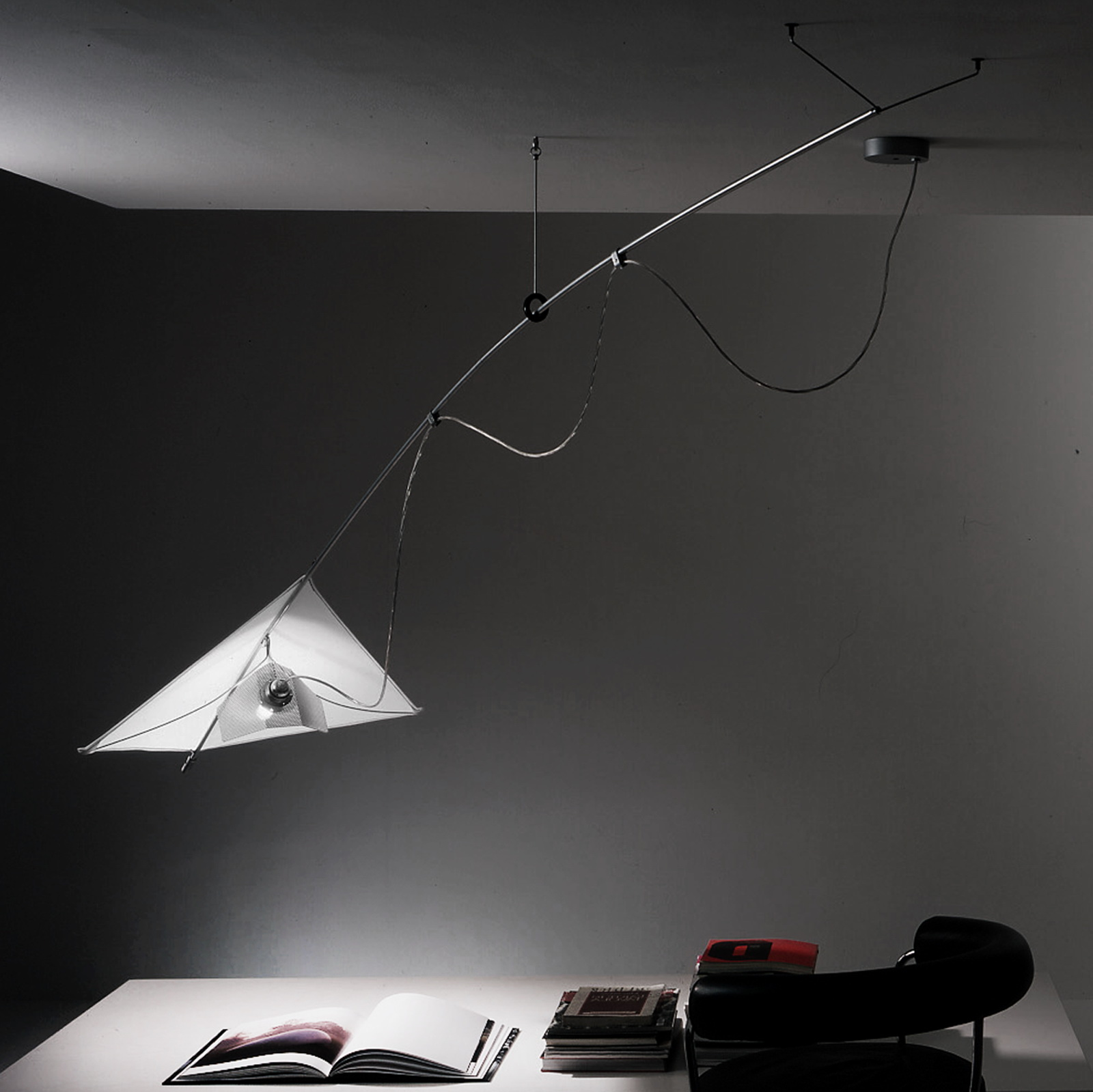 lampadari lucca : Lampada a sospensione orientabile VELA by Martinelli Luce design Paolo ...