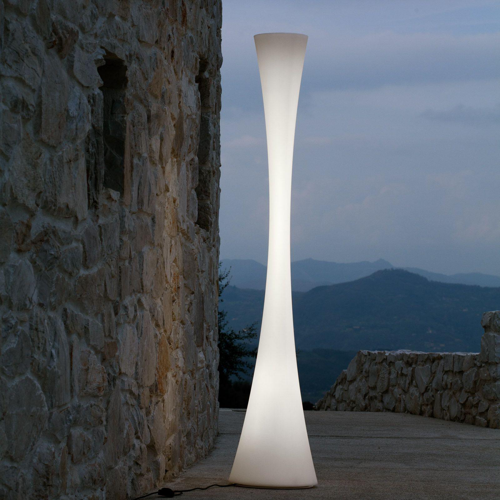 Lampada da terra in polietilene biconica pol by martinelli - Lampada da terra design ...