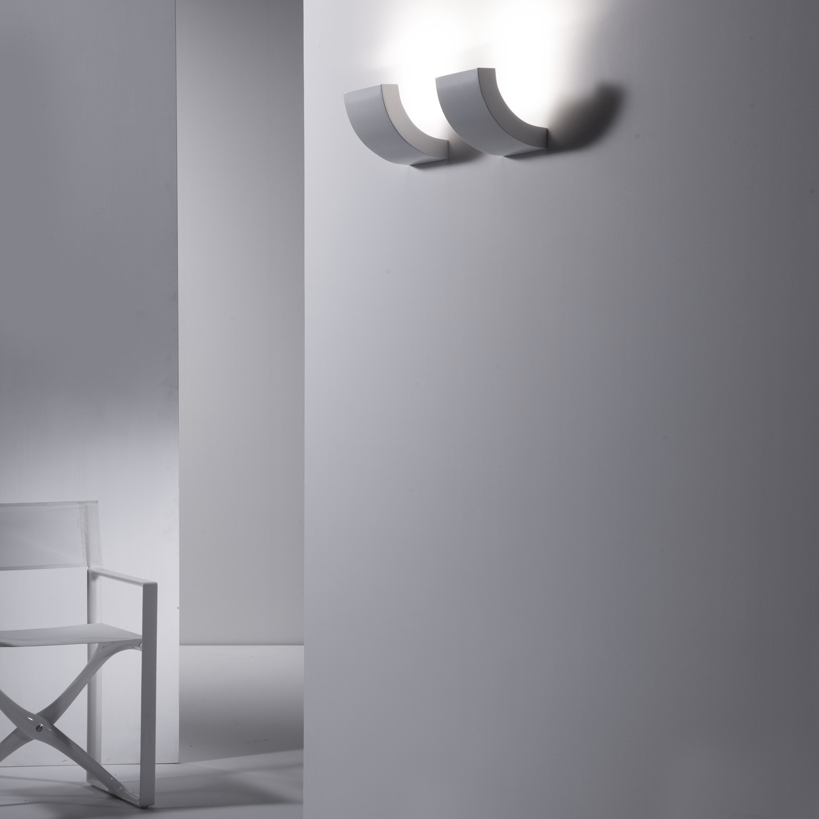 Wall Light Lamp Design: Design Indirect Light Halogen Aluminium Wall Lamp PICCHIO