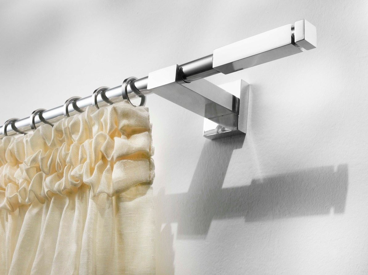 contemporary style aluminium curtain rod alfeo by scaglioni -