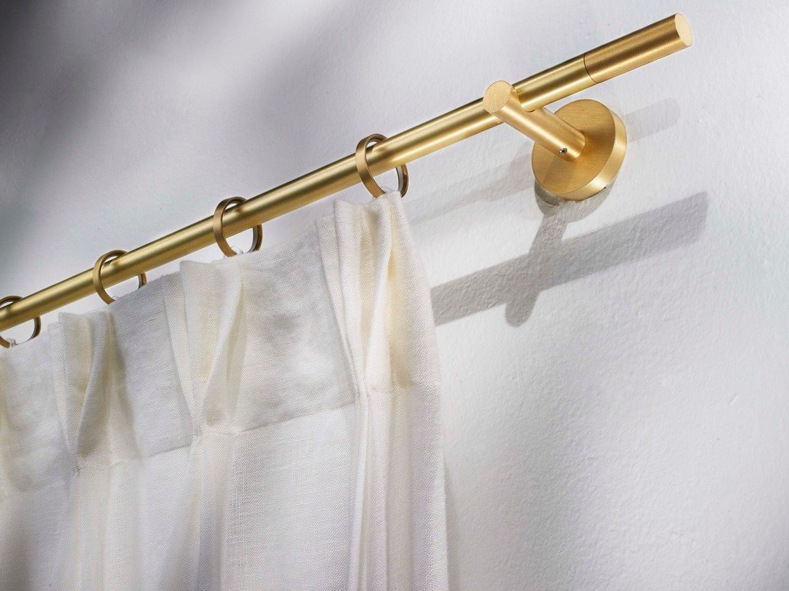 Contemporary Style Brass Curtain Rod Vesta Brass Collection By Scaglioni Design Scaglioni
