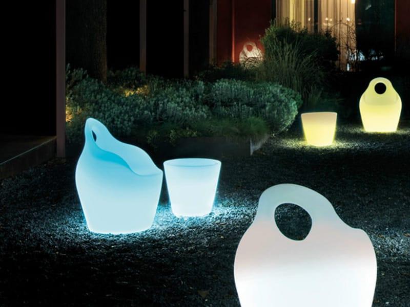 Leuchtender runder Couchtisch aus Kunststoff OMNIAV LIGHT