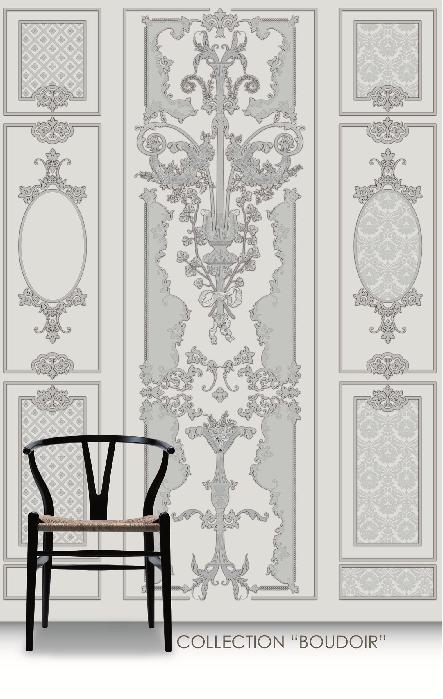 Panoramica boudoir by conceptuwall for Carta da parati in velluto