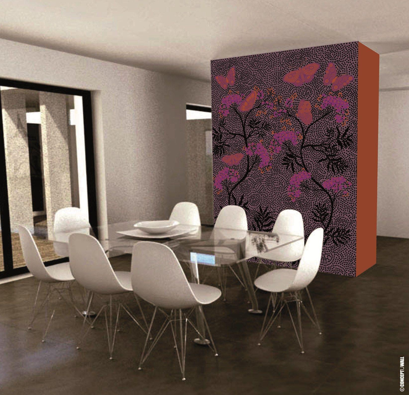 Papel pintado panor mico panor mico de papel no tejido de dise o butterfly by conceptuwall - Papel pintado diseno ...