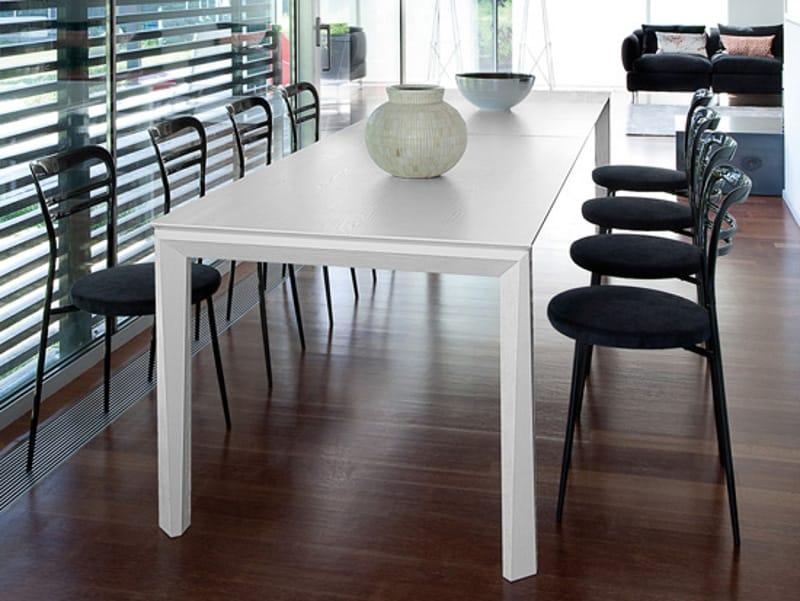 Universe 160 tavolo in acciaio by domitalia design studio balutto associati - Larghezza tavolo ...