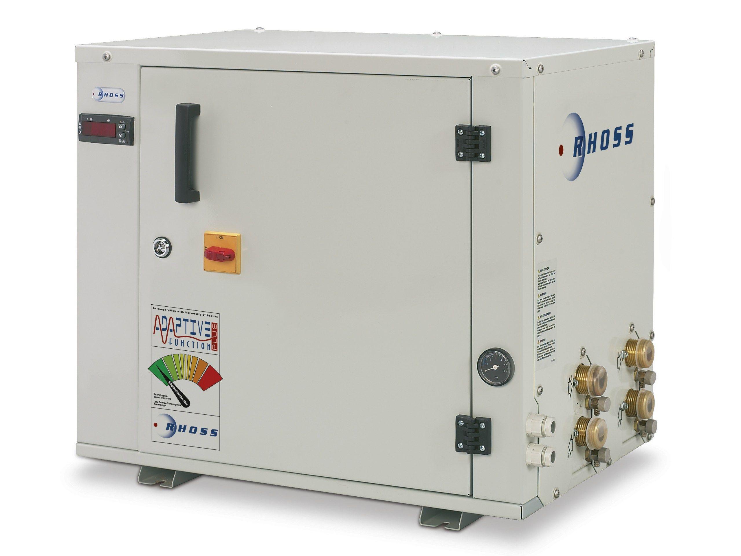 Pompe chaleur eau eau comby flow thhey 105 112 by rhoss for Interet pompe a chaleur