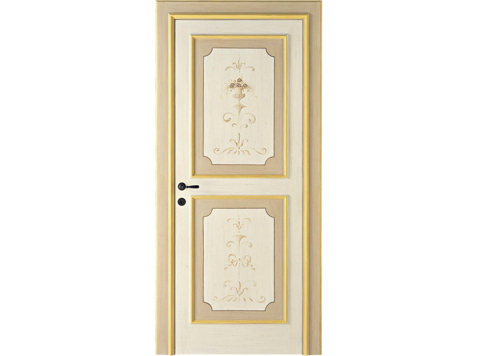 Porte interne decorate a mano lunamare antiche porte for Porte stile antico