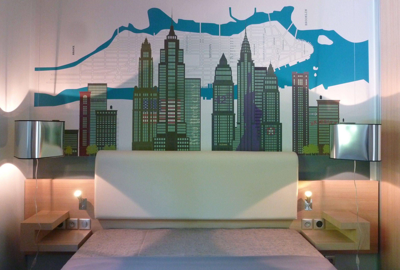 Carta da parati a striscia unica new york city by conceptuwall for Carta da parati new york ebay