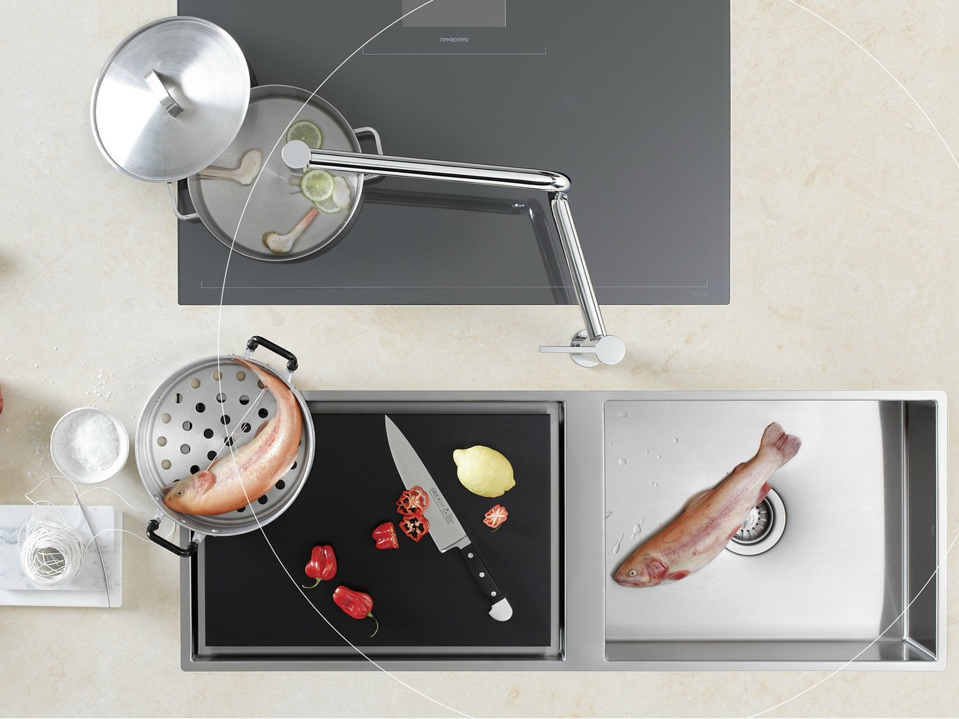 M langeur de cuisine poser pivot by dornbracht design for Melangeur de cuisine