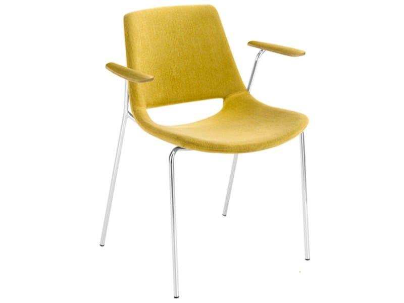 Palm stuhl mit armlehnen by arper design lievore altherr for Stuhl plastikschale