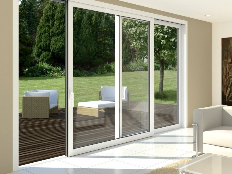 Puerta de patio corredera elevable de pvc sch co for Fenetre schuco