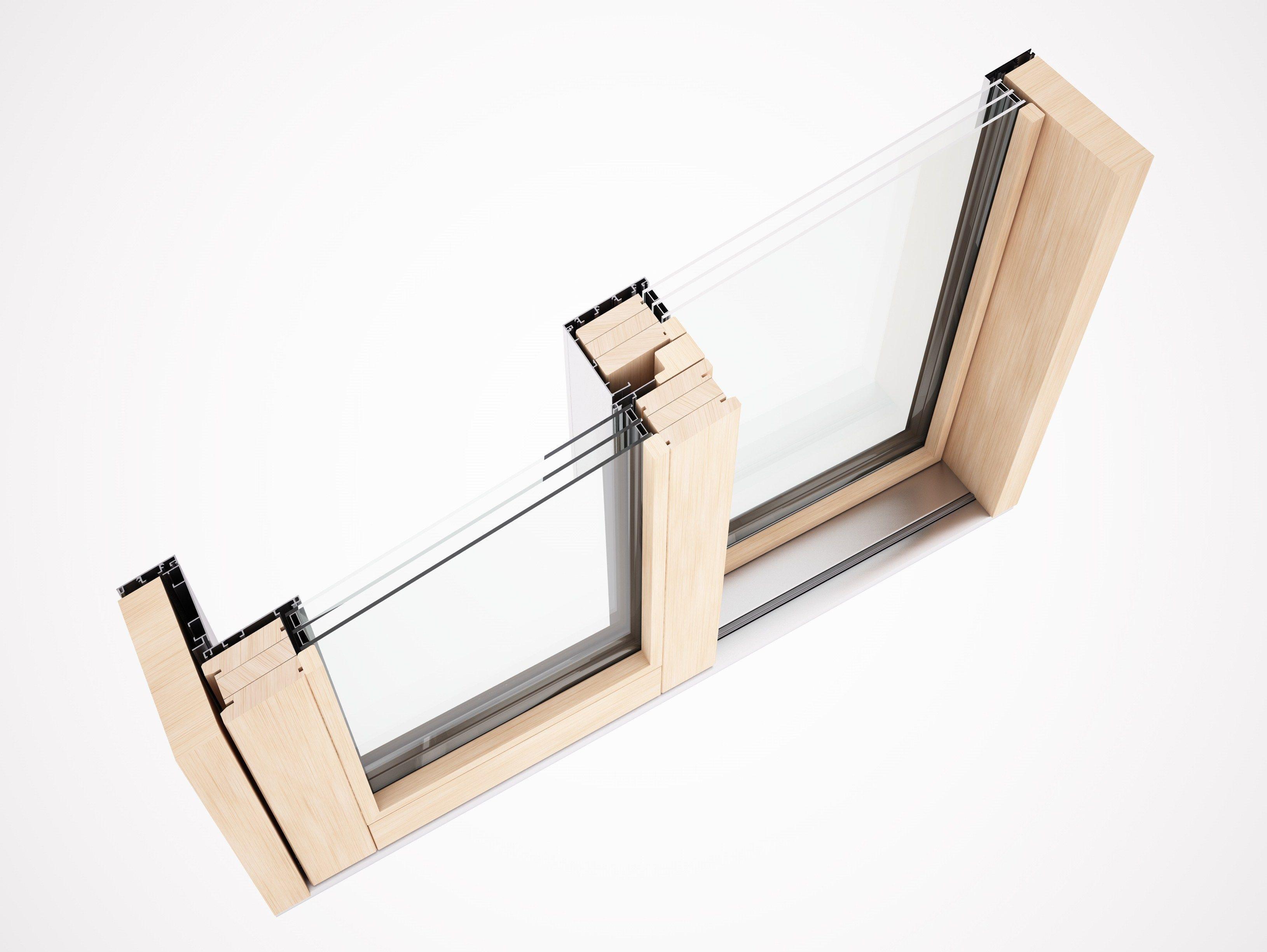 Porta finestra alzante scorrevole in alluminio e legno eternity maxi zero by pavanello - Porta finestra in legno ...
