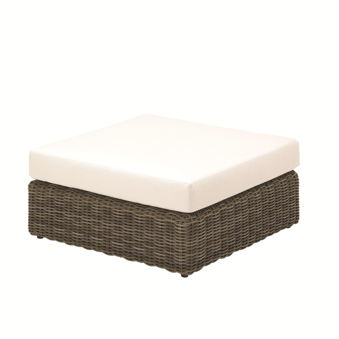 pouf de jardin carr e en r sine tress e collection havana by gloster design povl eskildsen. Black Bedroom Furniture Sets. Home Design Ideas