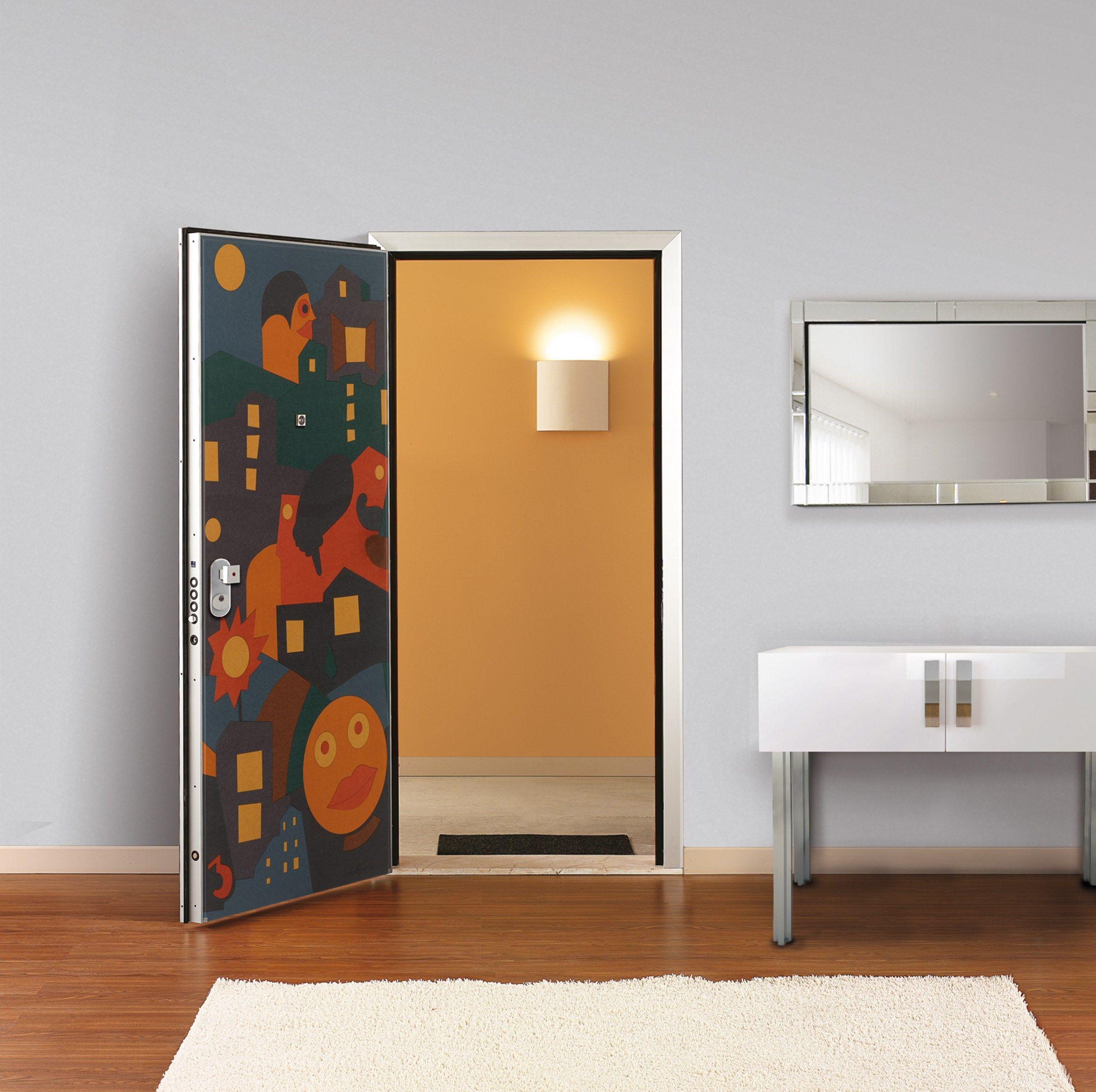 Pannello di rivestimento per porte blindate fables by di - Pannello decorativo per porte ...