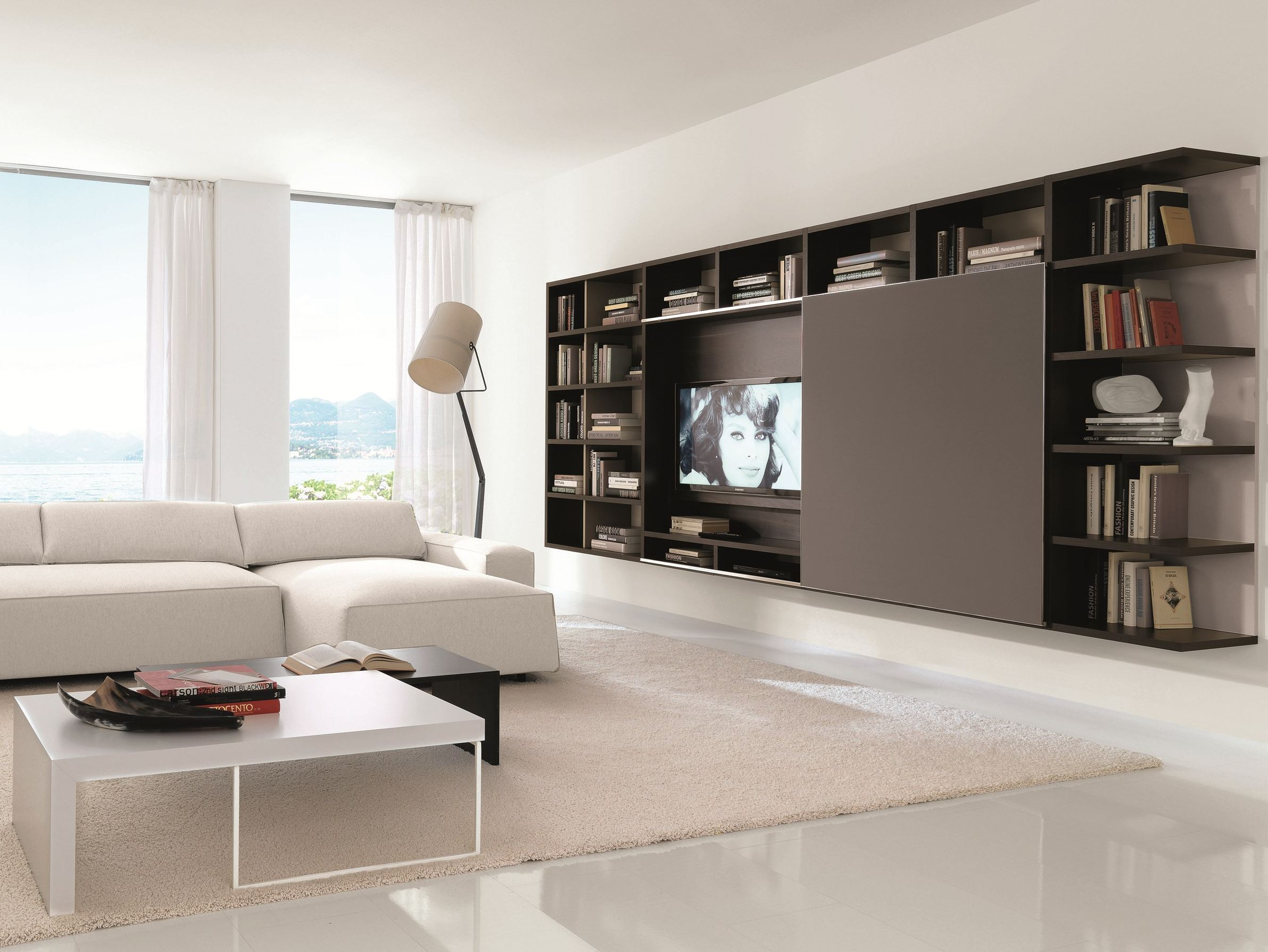 link system wohnwand by zalf. Black Bedroom Furniture Sets. Home Design Ideas