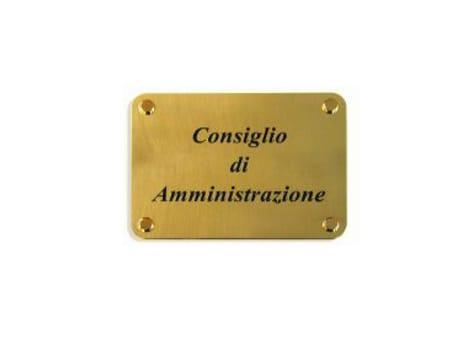 Panneau de signalisation personnalis en laiton tamws by geprom design - Panneau de signalisation personnalise ...