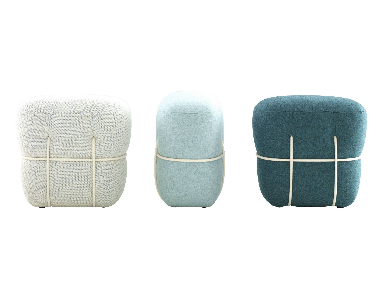 upholstered pouf with removable lining lace by roset italia design benjamin graindorge. Black Bedroom Furniture Sets. Home Design Ideas