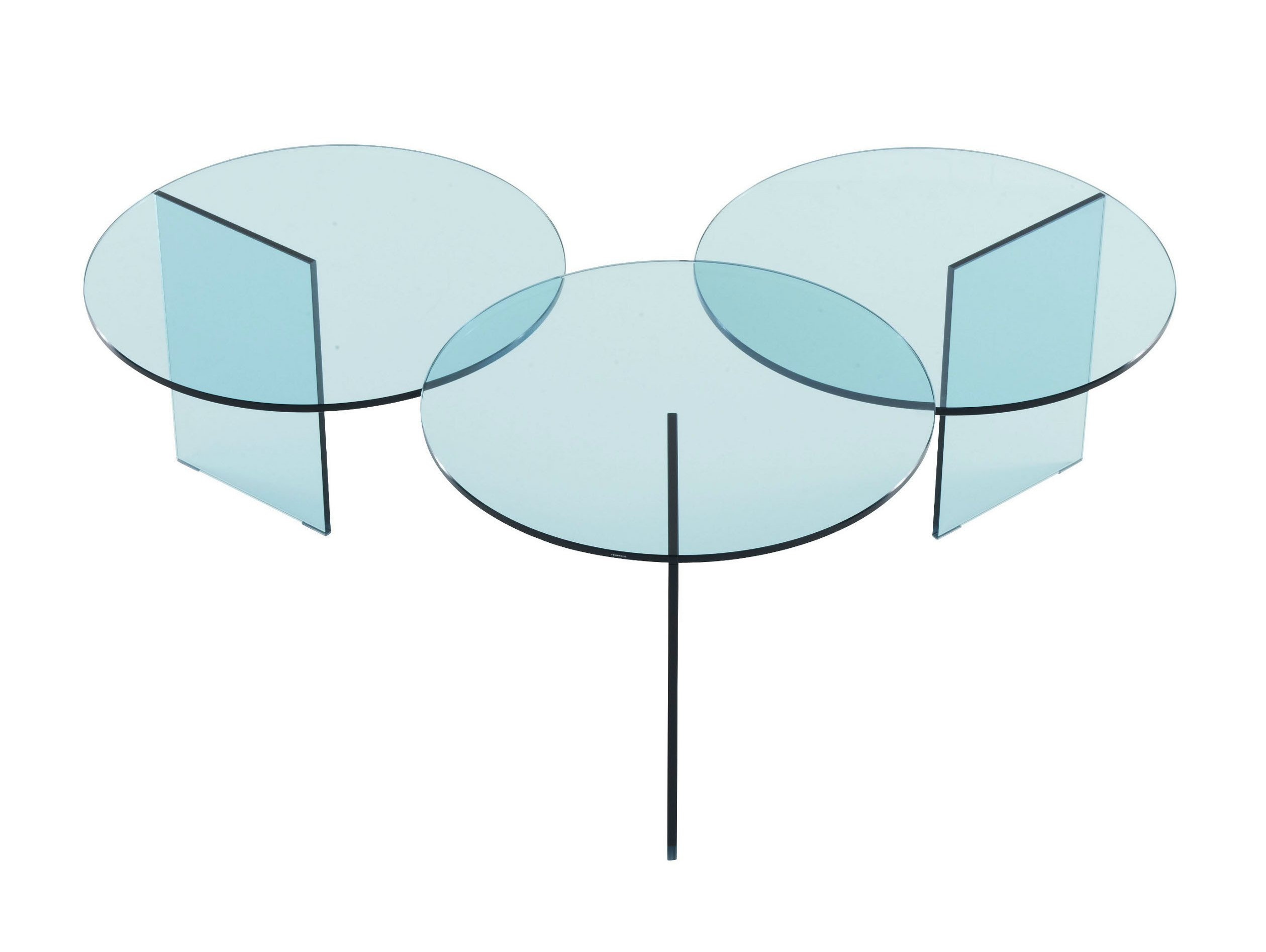 Table basse ronde en verre tremp aoyama by roset italia - Table basse ronde en verre design ...