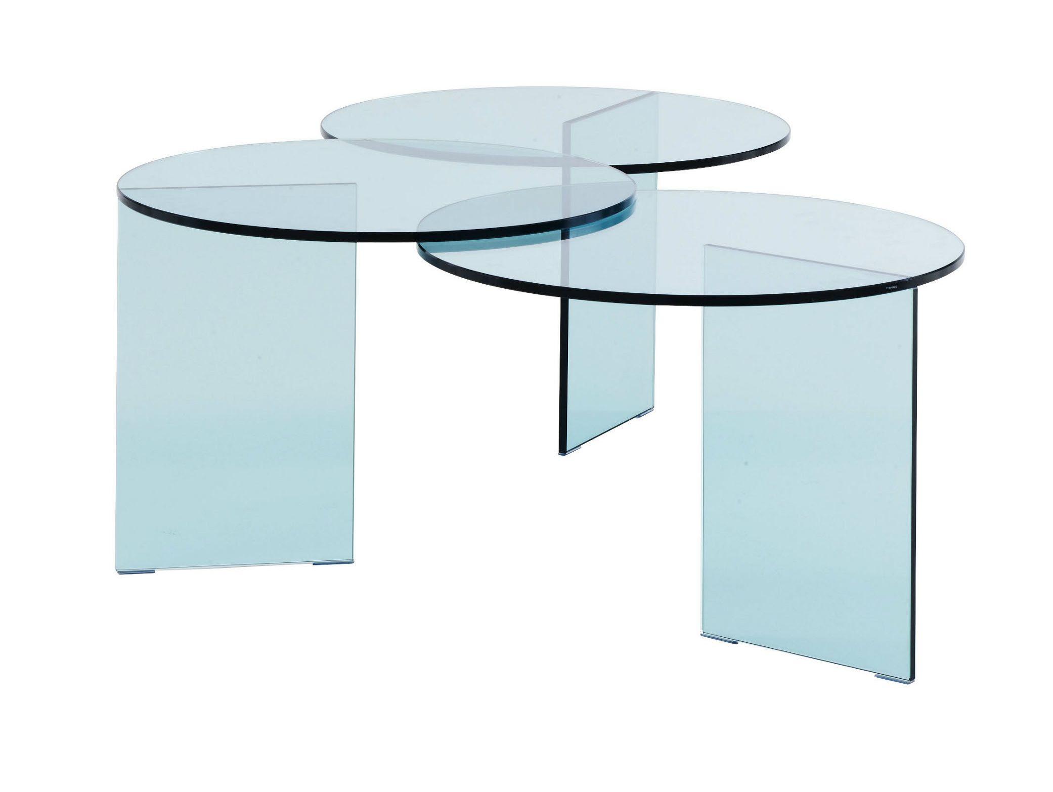 table basse ronde en verre tremp aoyama by roset italia. Black Bedroom Furniture Sets. Home Design Ideas