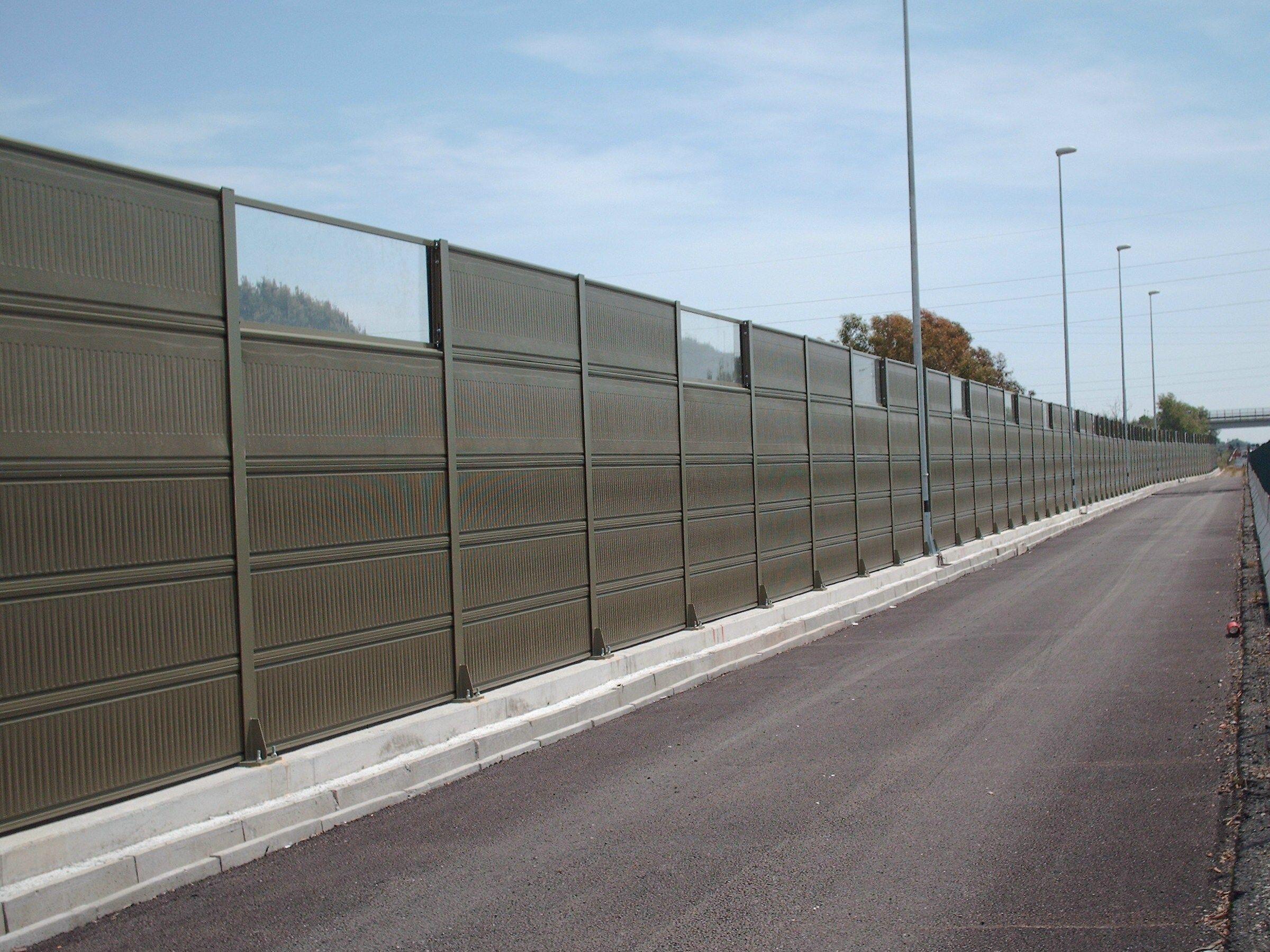 Road Noise Barrier Akuglass By Sitav Costruzioni Generali