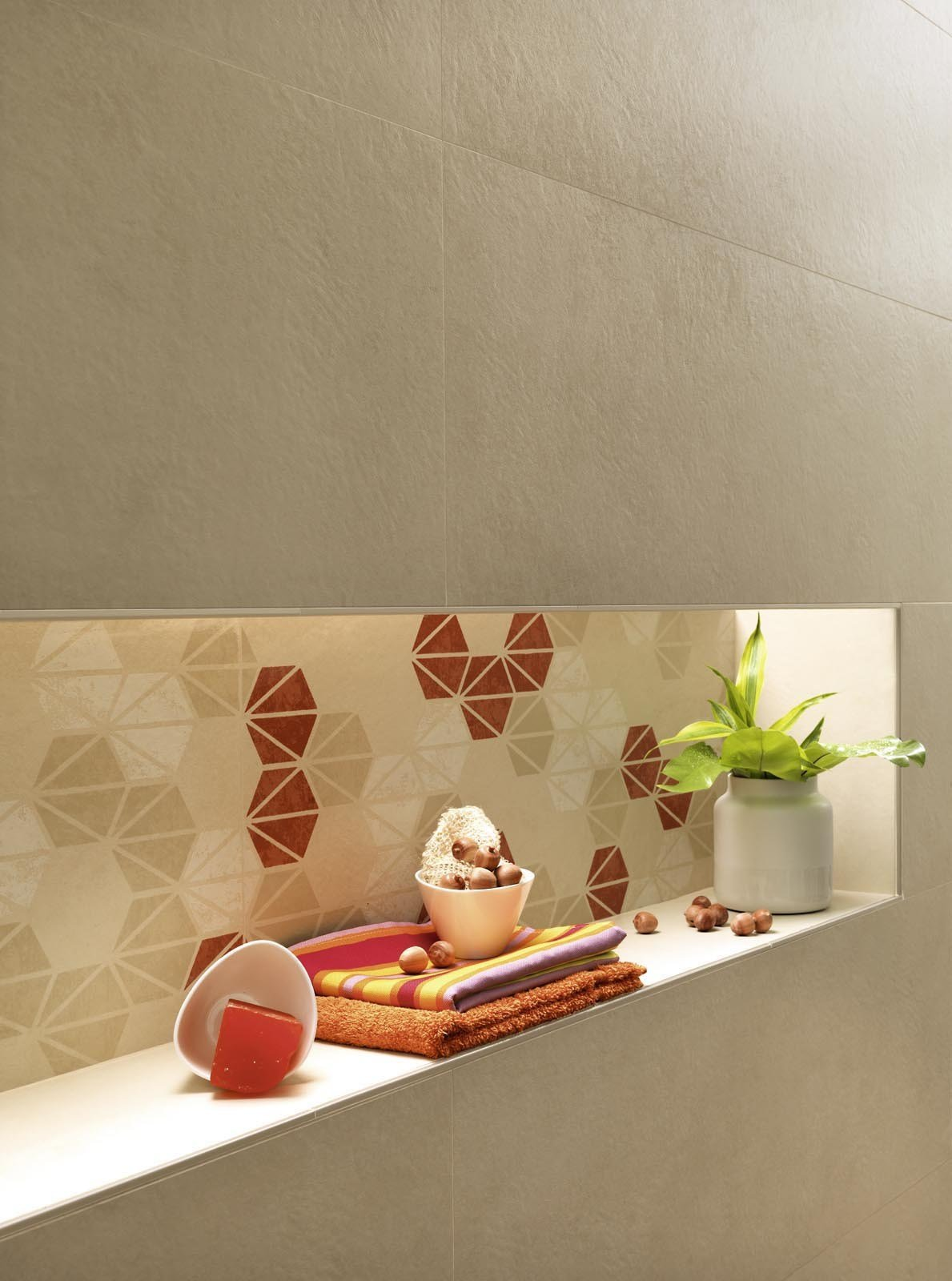 Indoor white paste wall tiles oficina7 by marazzi for Oficina 7 marazzi