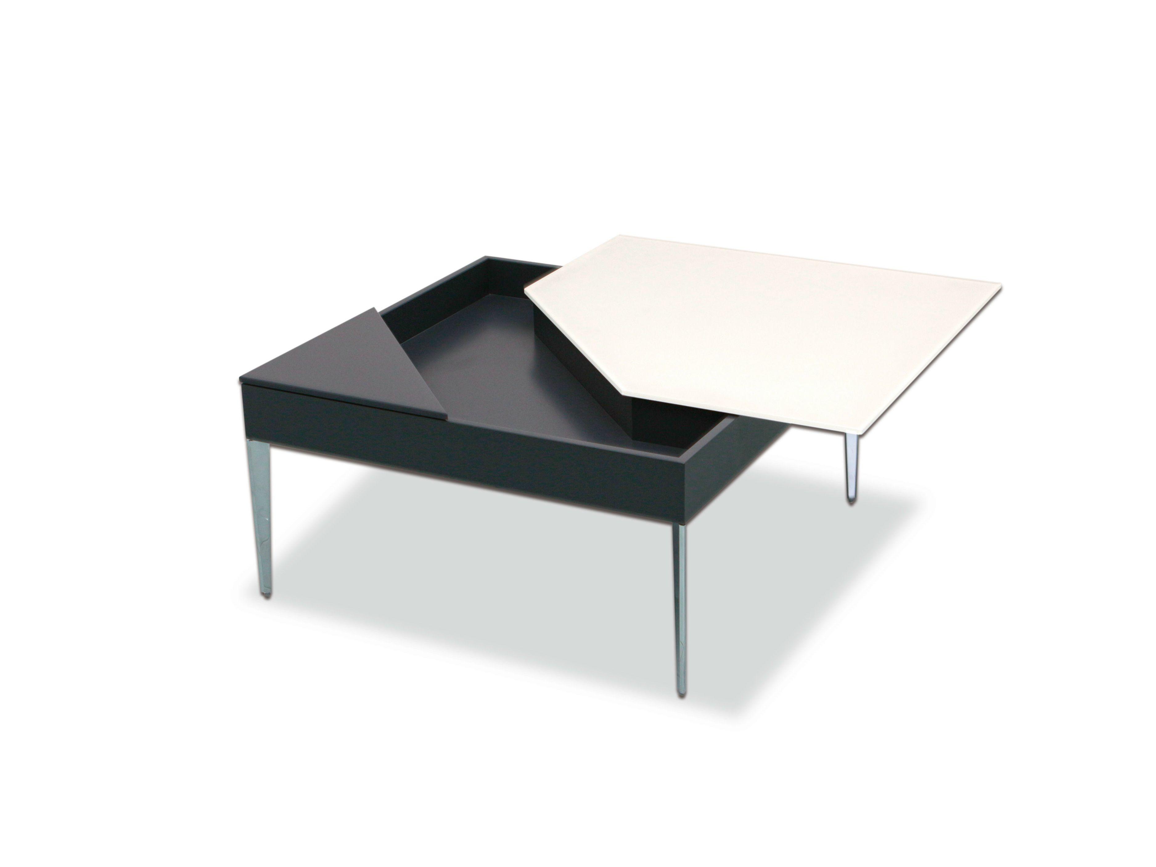 Tavolino design con portariviste da salotto MIRA by Ronald Schmitt