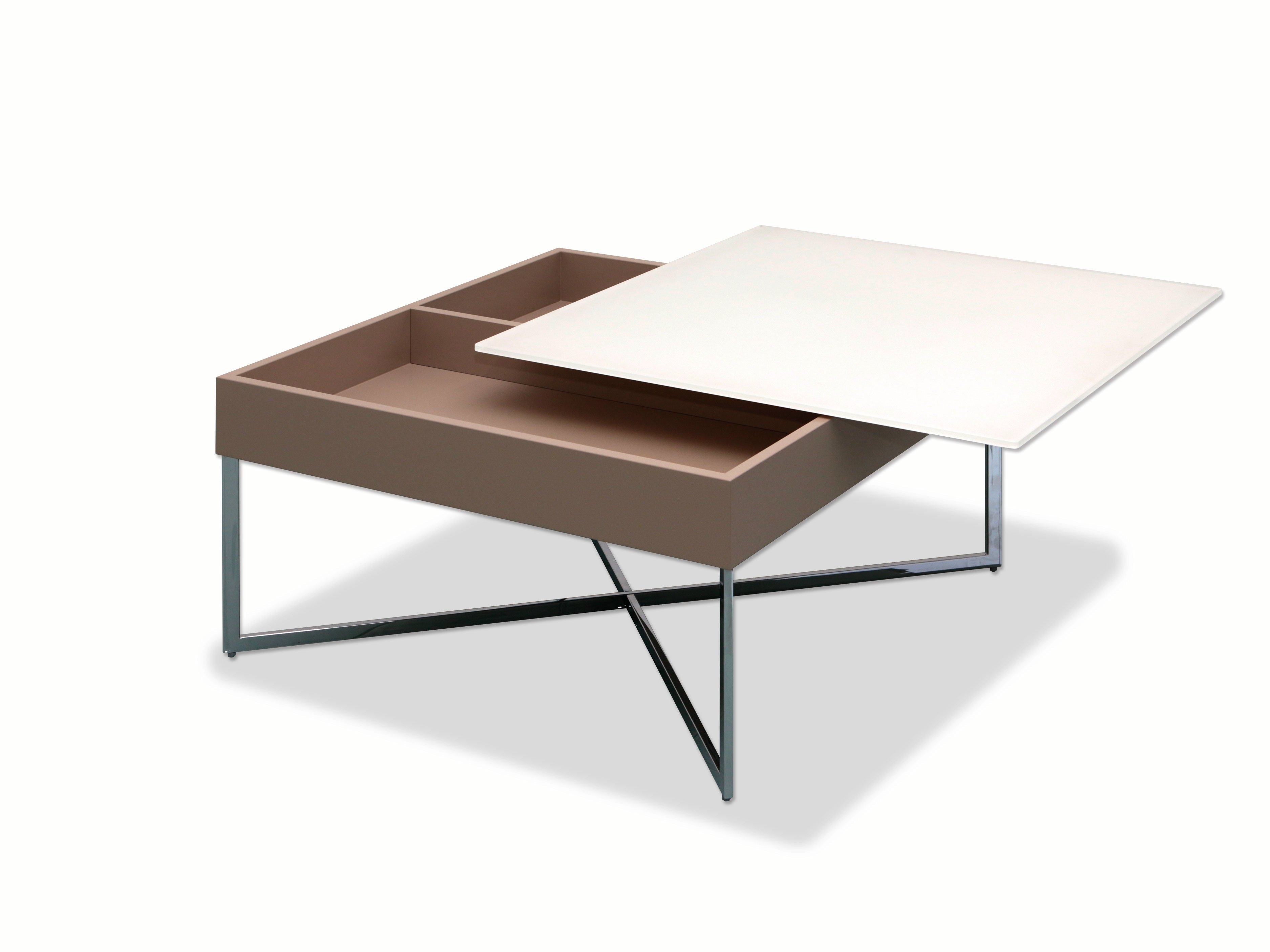 Coffee table with integrated magazine rack WEGA by Ronald
