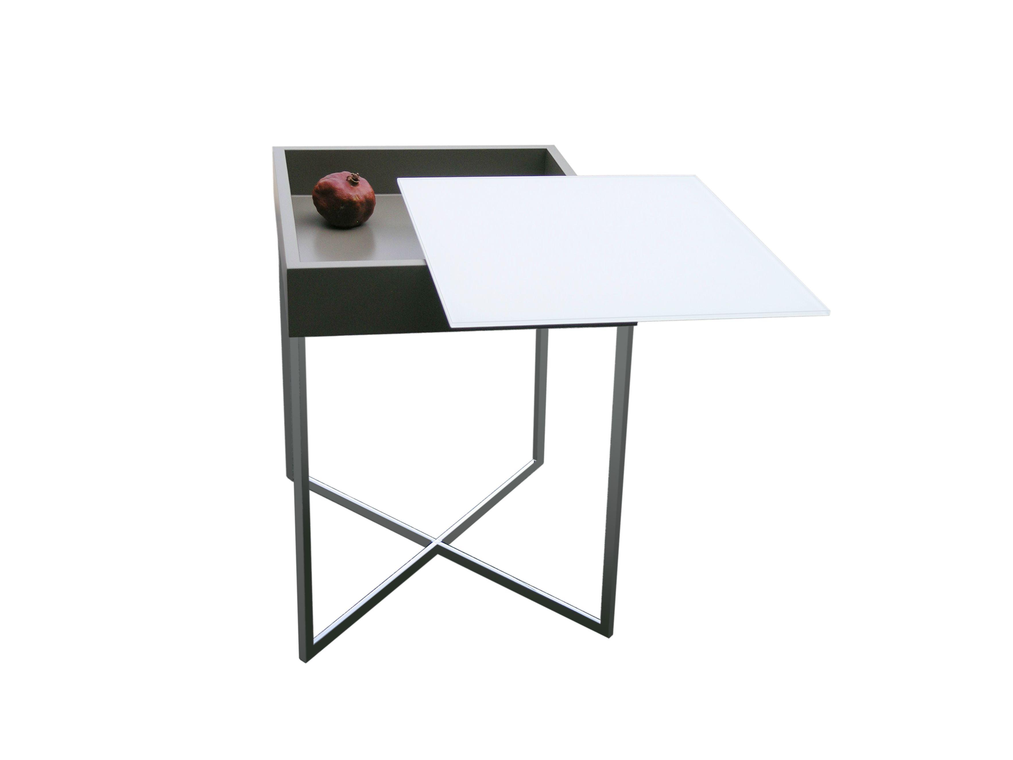 hoch couchtisch mit integriertem zeitungsst nder lyra by ronald schmitt. Black Bedroom Furniture Sets. Home Design Ideas