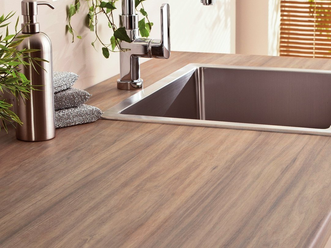 Hpl kitchen worktop charme polyform collection by polyrey - Plan de travail stratifie imitation bois ...