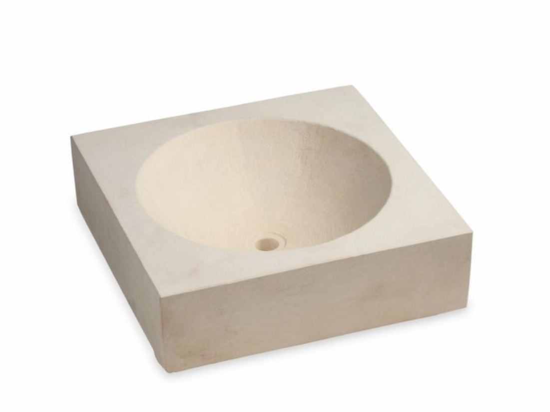 Lavabo sobre encimera de piedra reconstituida sas lavabo for Lavabo cuadrado