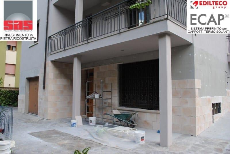 Revestimiento de fachada piedra artificial by sas italia - Fachadas de piedra artificial ...