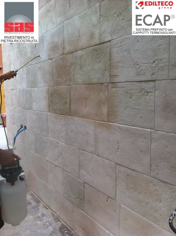 Revestimiento de fachada piedra artificial by sas italia - Piedra artificial fachadas ...