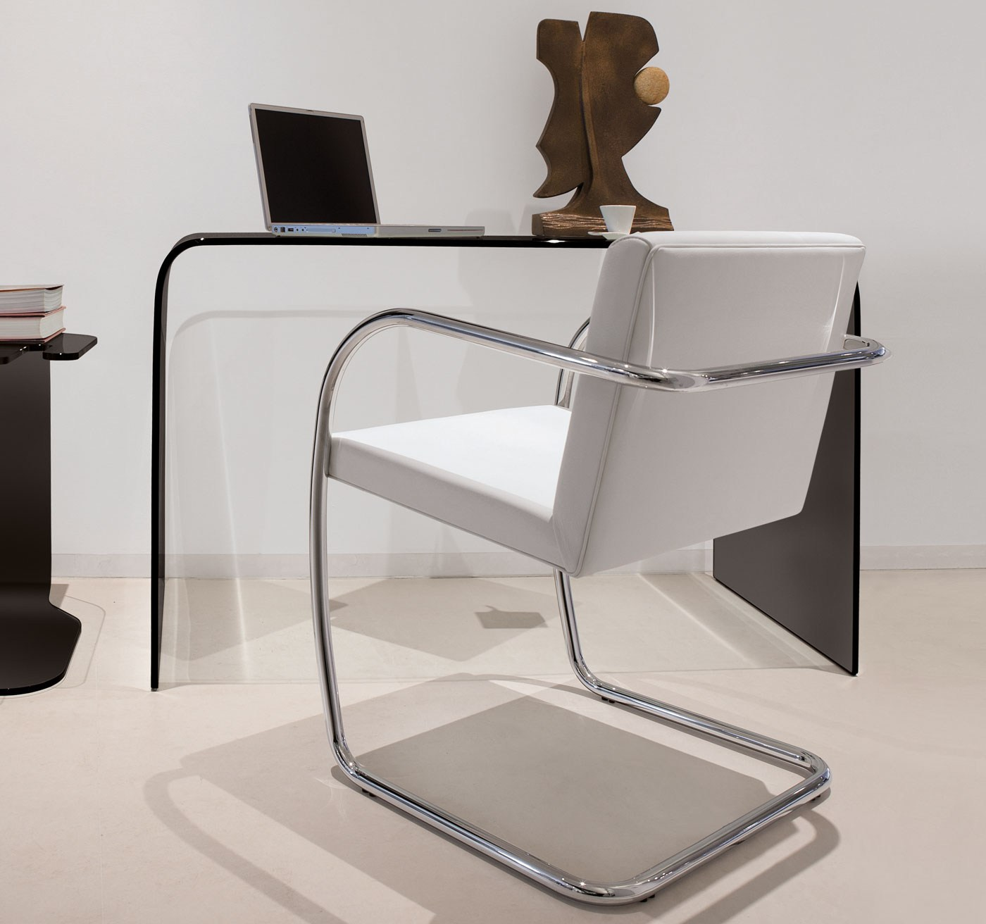 Design glass writing desk ACCADEMIA by ITALY DREAM DESIGN