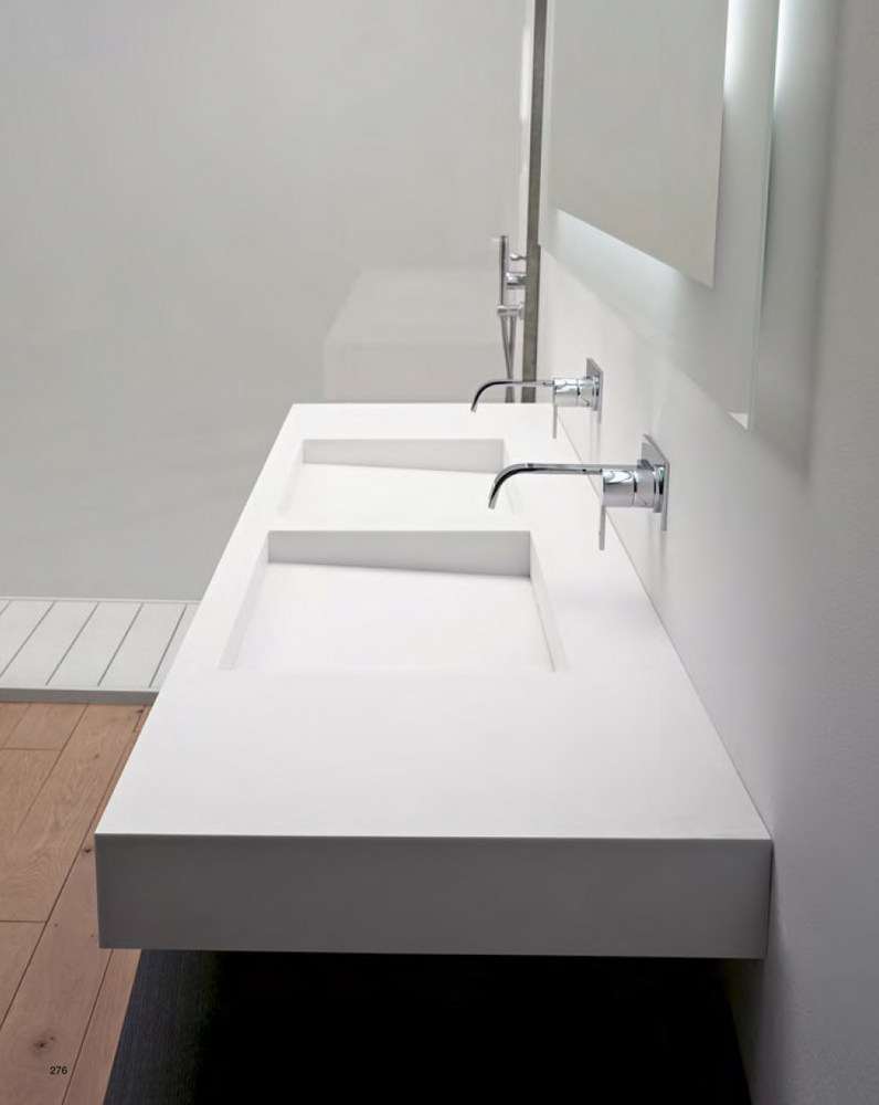 Corian washbasin countertop myslot by antonio lupi design design nevio tellatin - Van plan corian ...