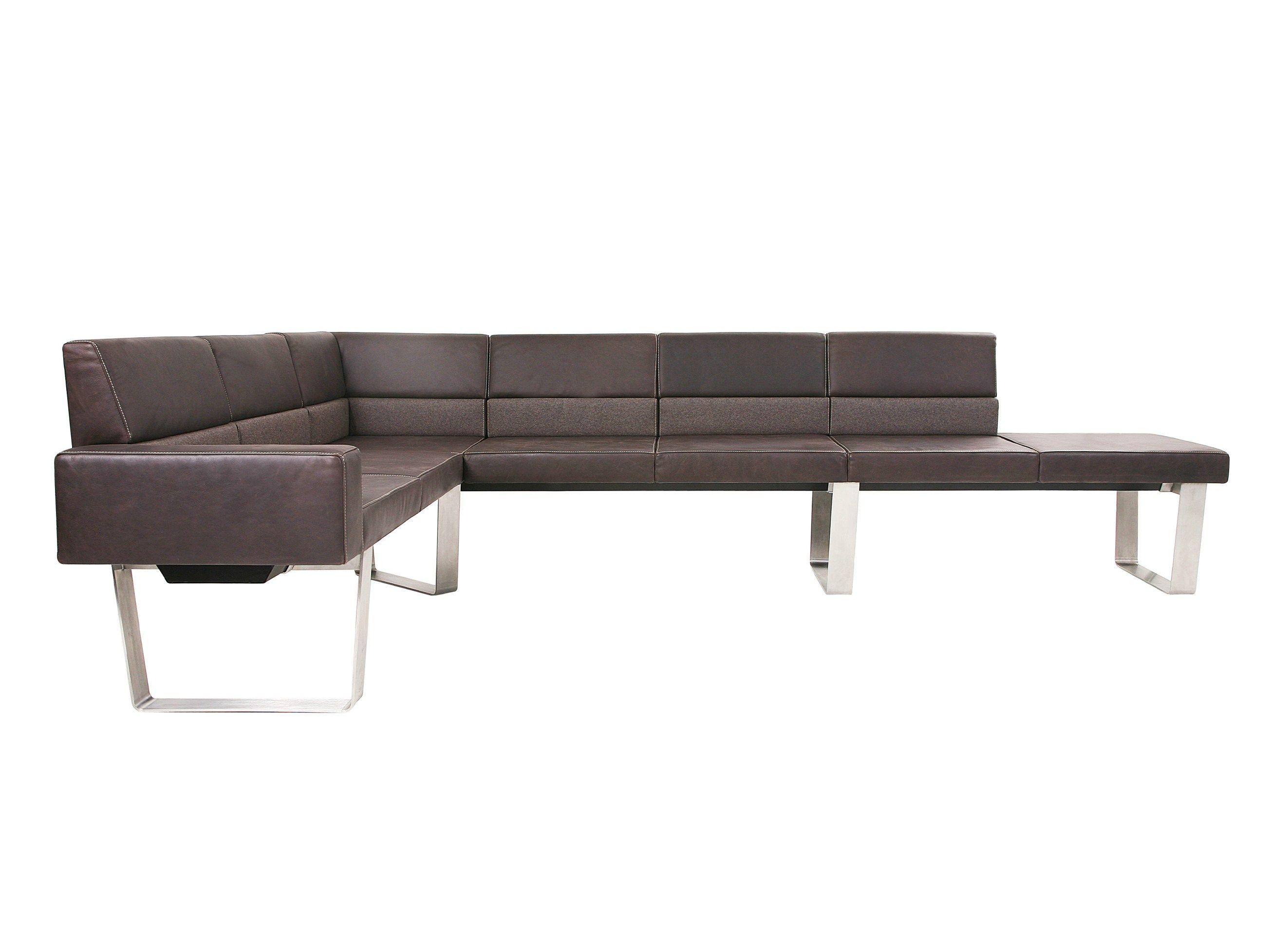 Modulares sofa aus leder bench ecksofa kollektion for Sofa aus leder