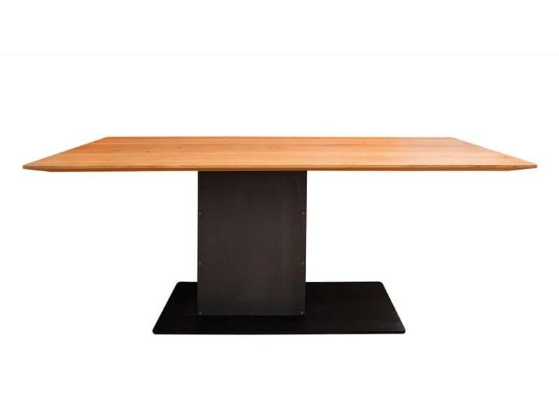 rechteckiger tisch aus stahl und holz loot kollektion loot. Black Bedroom Furniture Sets. Home Design Ideas