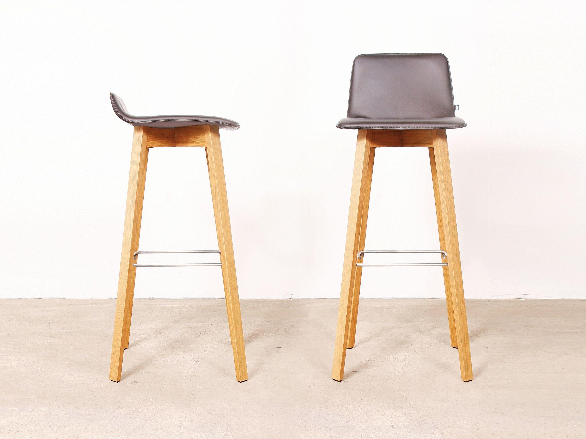 Maverick taburete de cuero by kff dise o birgit hoffmann - Cuero para tapizar sillas ...