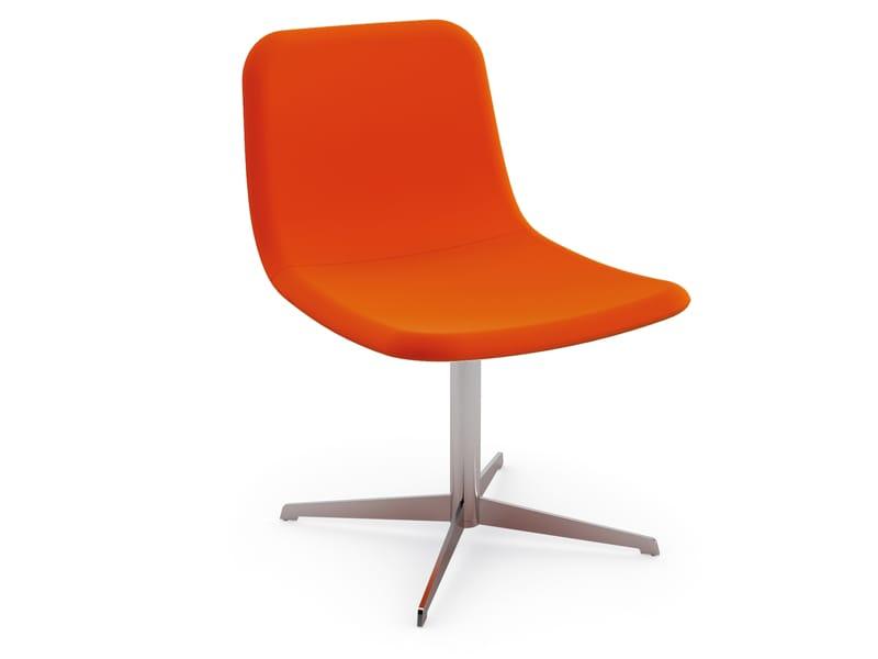 chaise rembourr e 4 branches nuvo 39 collection nuv by cizeta design edi e paolo ciani design. Black Bedroom Furniture Sets. Home Design Ideas