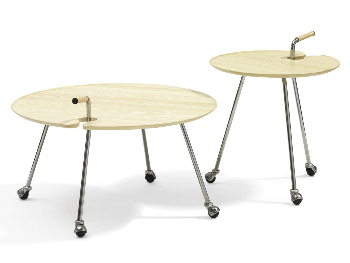 Round Coffee Table With Casters Pond By Bl Station Design: coffee tables with casters