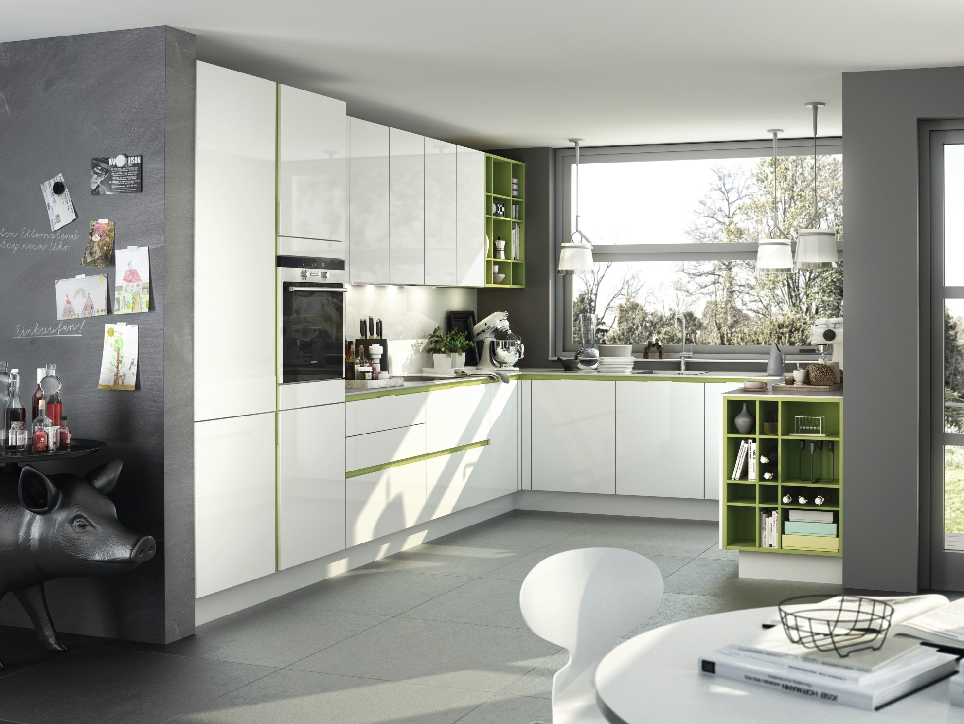 Cuisine int gr e laqu e lin aire s3 by siematic for Cuisine lineaire 4 metres