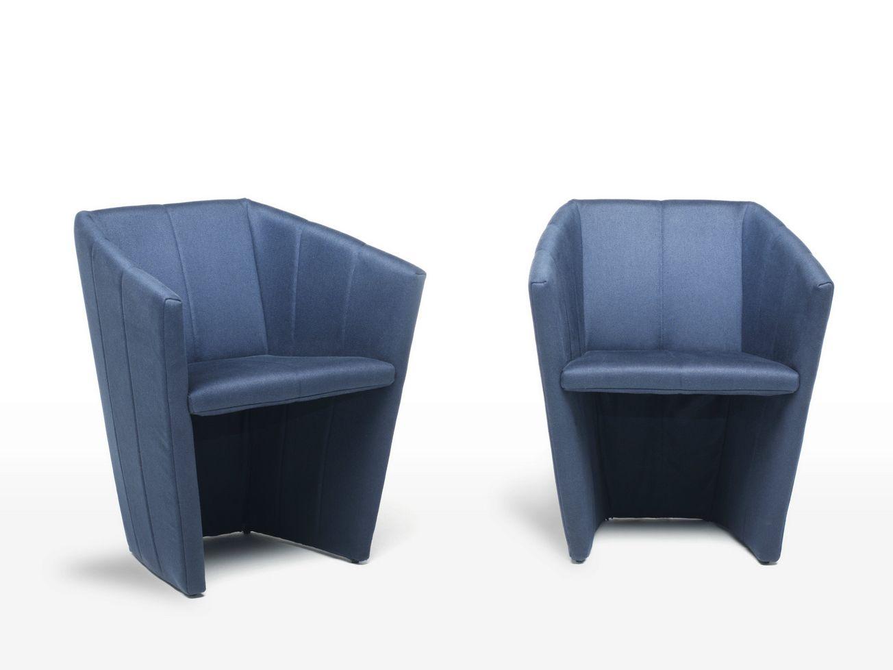 Fabric armchair FOLD by Living Divani design Victor Carrasco