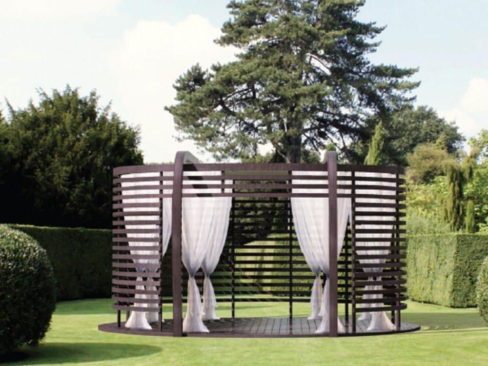 Gartenpavillon Holz Aufbauen ~ Ein Gartenpavillon Aus Holz Mit Sitzbank Pictures to pin on Pinterest