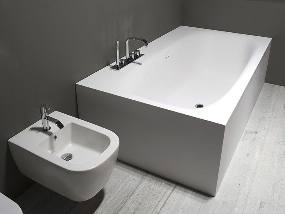 Vasca da bagno rettangolare in cristalplant sartoriale by for Vasca bagno design