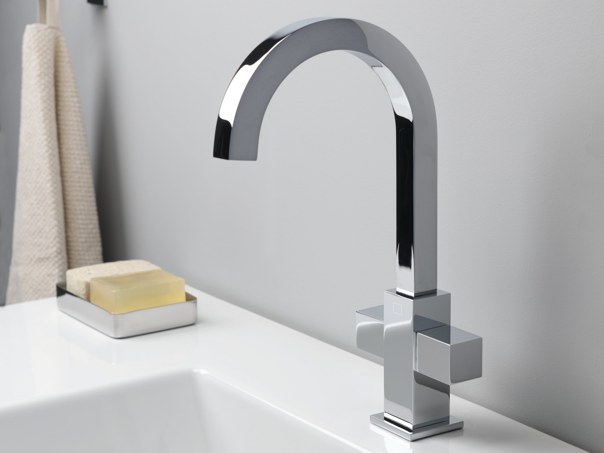 Quadri rubinetto per lavabo monoforo by cristina rubinetterie for Rubinetto bagno a muro