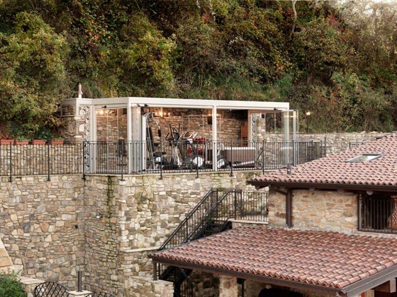 veranda in ferro e legno : Veranda in ferro e vetro FORMENTERA Veranda - CAGIS